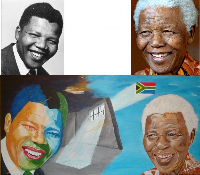 Nelson Mandela by lhommeloiret